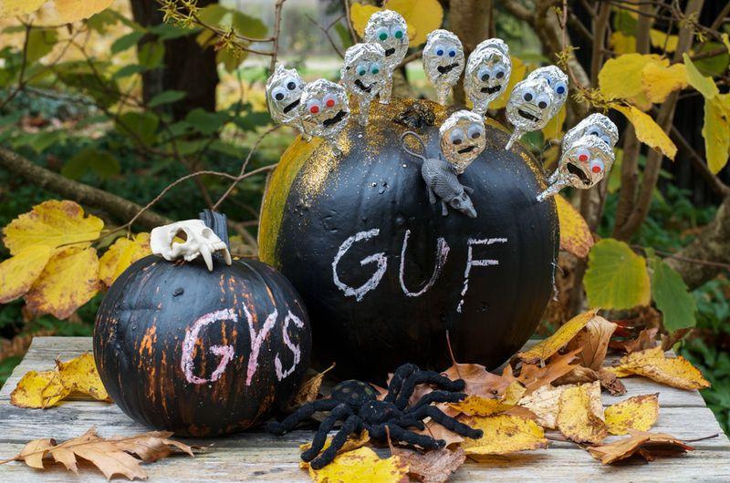 Halloween græskar med tavlemaling