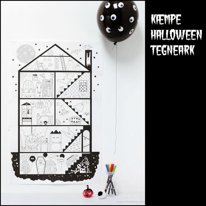 Kæmpe Halloween tegneark