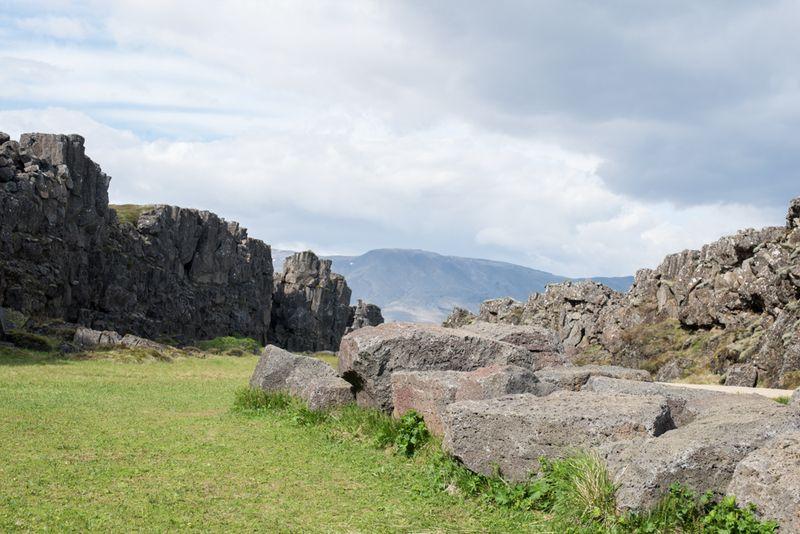Klipper ved Thingvellir
