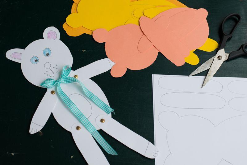 Invitation til bamsefest- klip efter skabelon