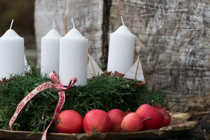 Adventskrans med juleduft