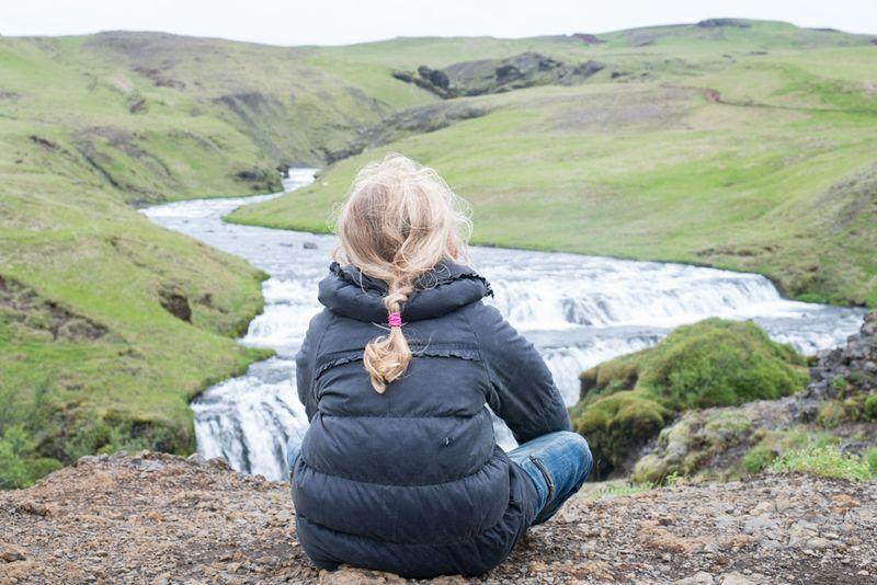 Anna på eventyr på Island