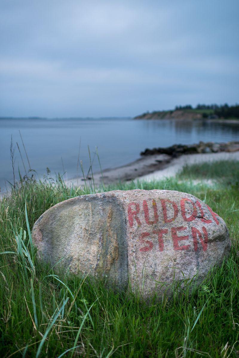 Rudulf sten ved Humlum Fiskeleje