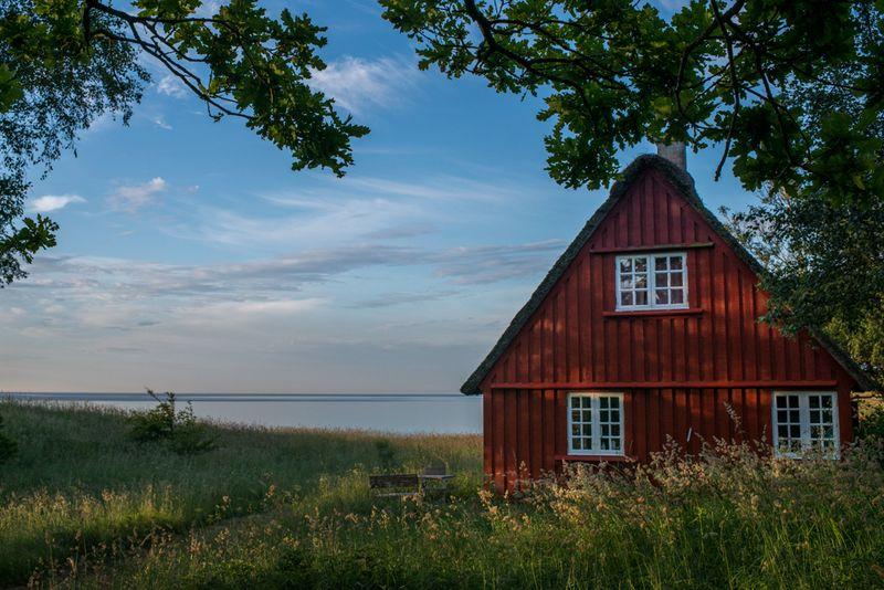 Sommerhus på Fuglsø strand