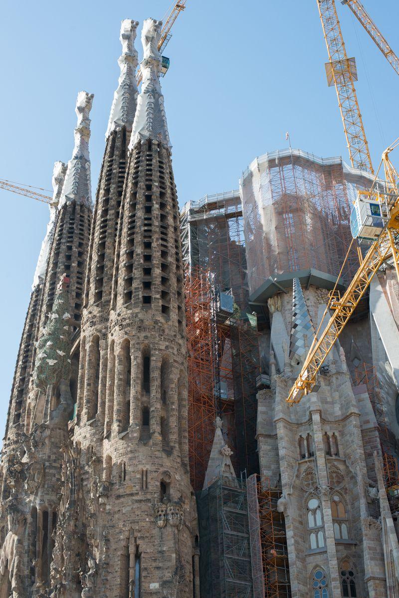 Sagrada Familia et mesterværk under opførelse