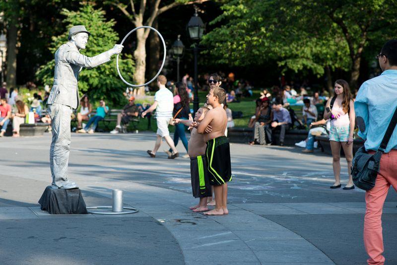 Gadekunstner i Washington Square Park