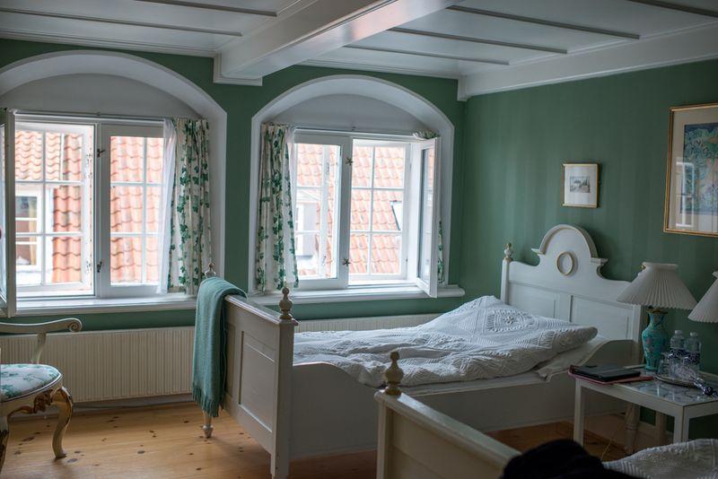 Det grønne værelse på Bed and Breakfast i Ærøskøbing