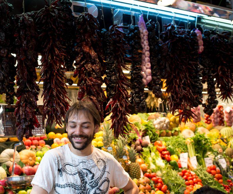 Fødevare marked i Barcelona