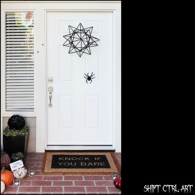 Halloween dørkrans