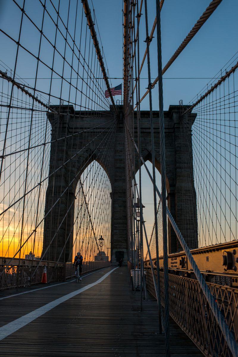 Brooklyn Bridge tidlig morgen
