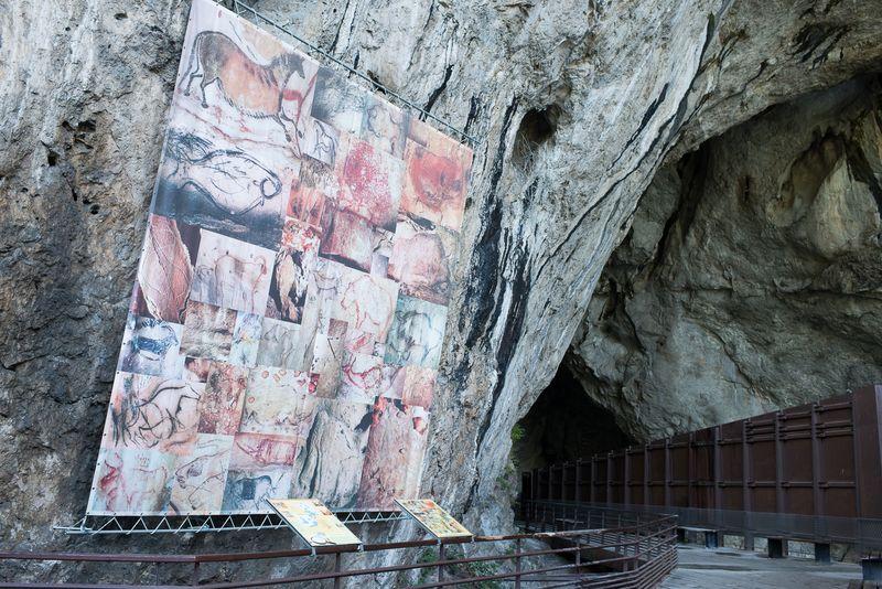 Reproduktion af malerier i Cave of Niaux