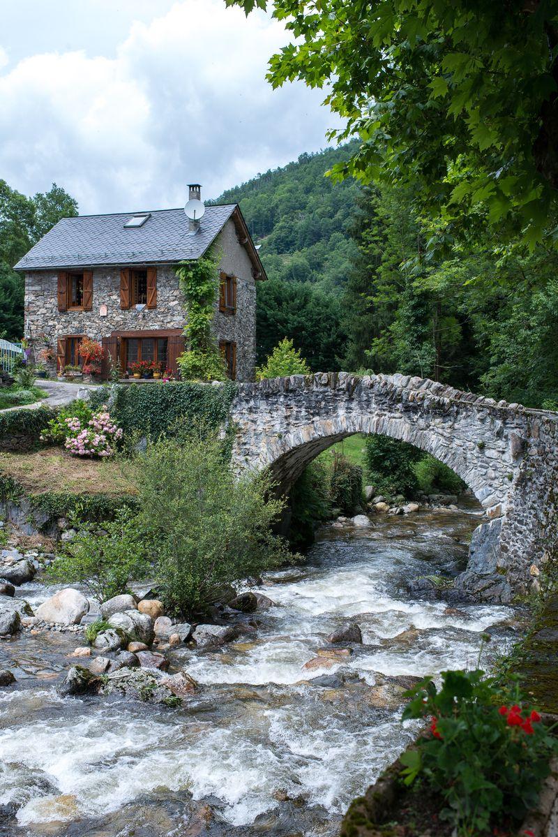 Hus i de franske Pyrenæer