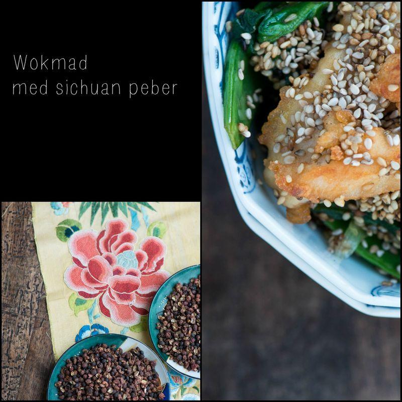 Wokmad med sichuan peber