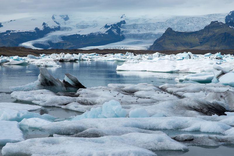 Islands gletscherlagune Jökulsárlón