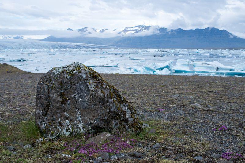 Udsigt til Breiðamerkurjökull