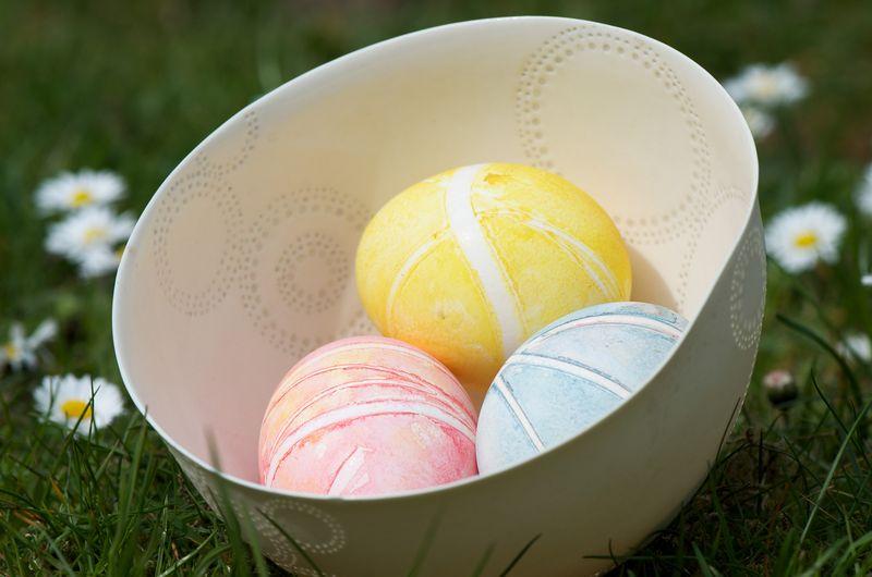 Fint farvede æg