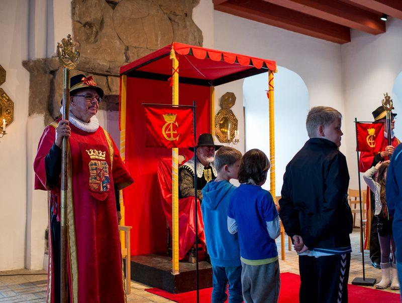 Koldinghus Børn i audiens hos Kongen