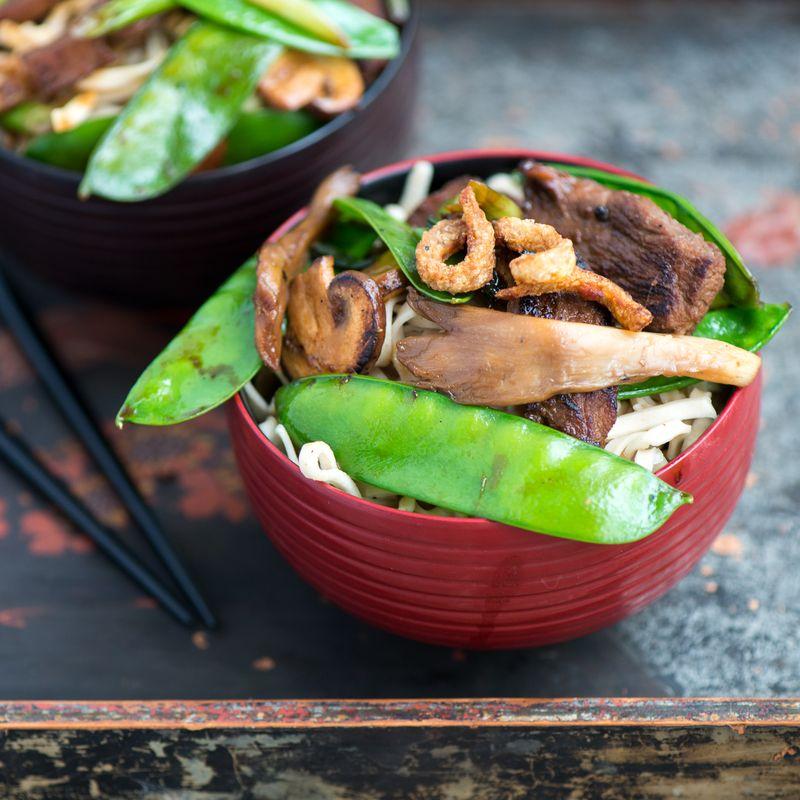 Wok med Andebryst og grønsager