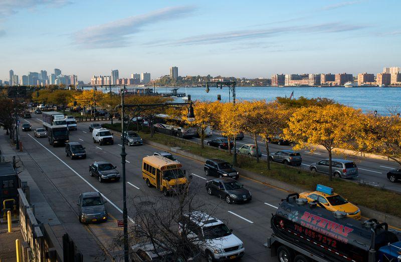 Udsigt fra the High Line til Hudson