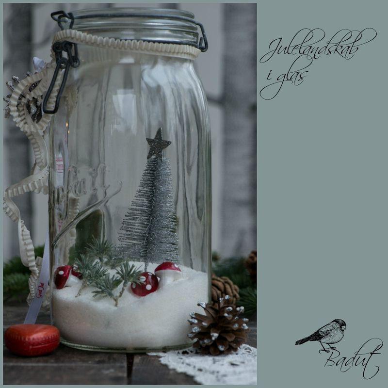 Julelandskab i glas