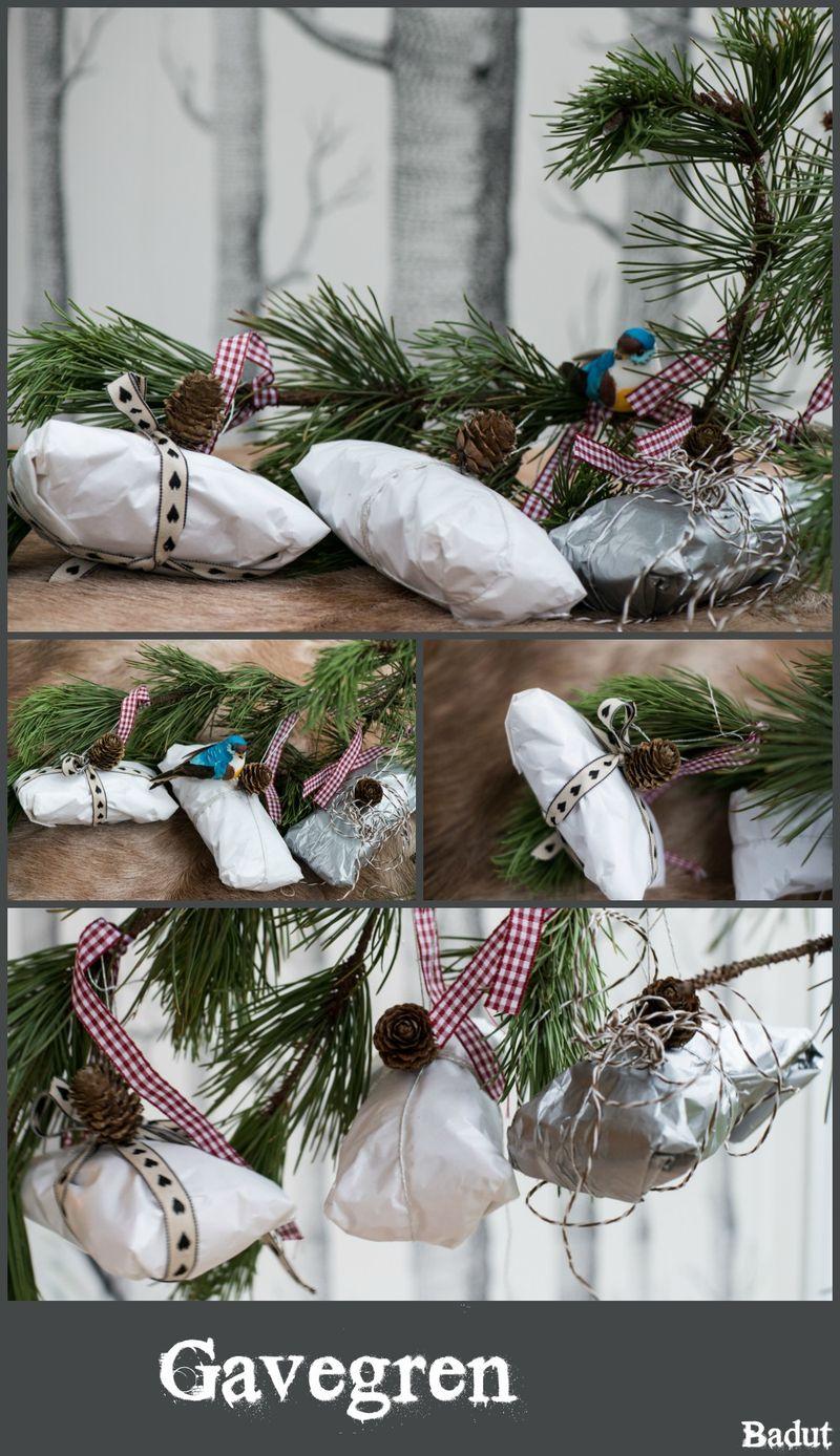 Julegave indpakning flere små gaver