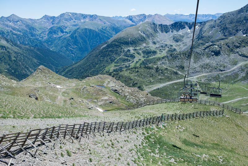 Ned med skilift sommer i Andorra