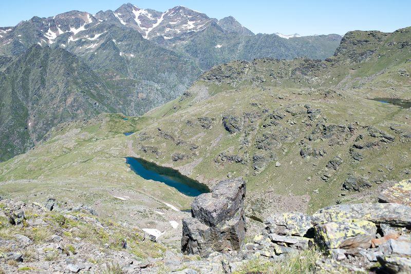 Sommer i Andorra bjergsøer