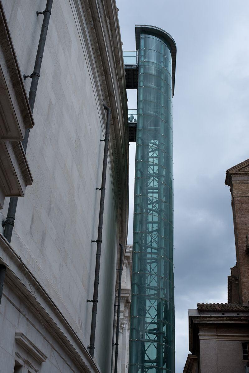 Glaselevator i Rom