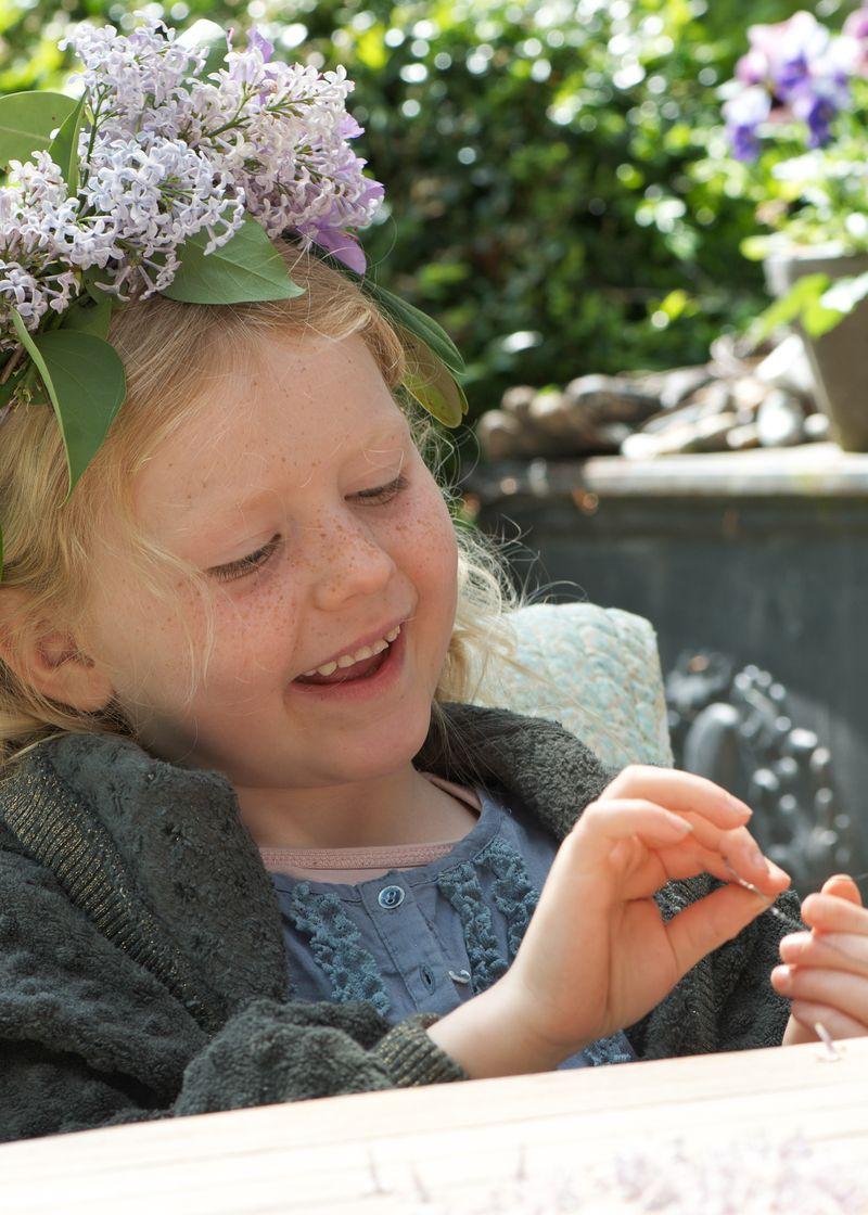 Blomsterkrone af syren