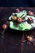 Chokolade edderkopper i skål