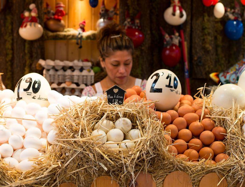 Der sælges æg på La Boquería markedet i Barcelona