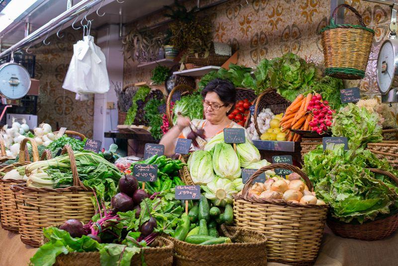 La Boquería Fødevare marked i Barcelona
