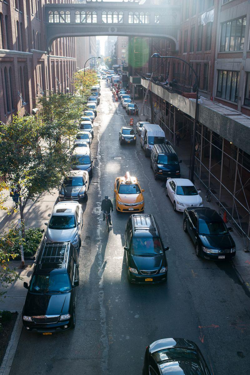 Kik til New Yorks gader fra the High Line