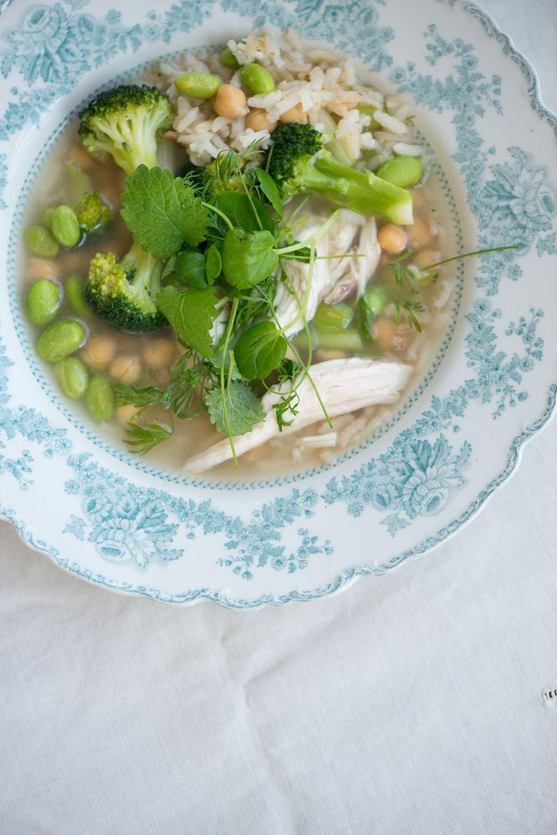 Kyllingesuppe opskrift