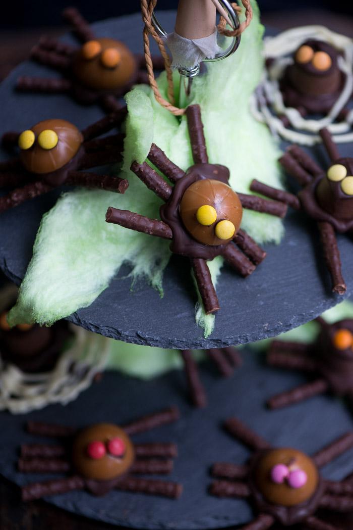 Chokolade edderkopper af Toffiefee