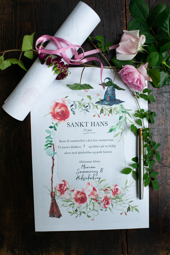 Sankt Hans fest invitation